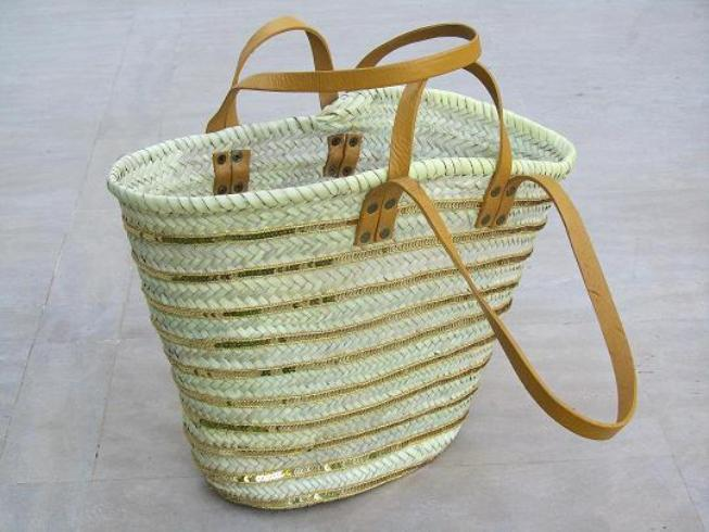 Handicraft Basketry : Arte palma palm leaf baskets leather handcraft
